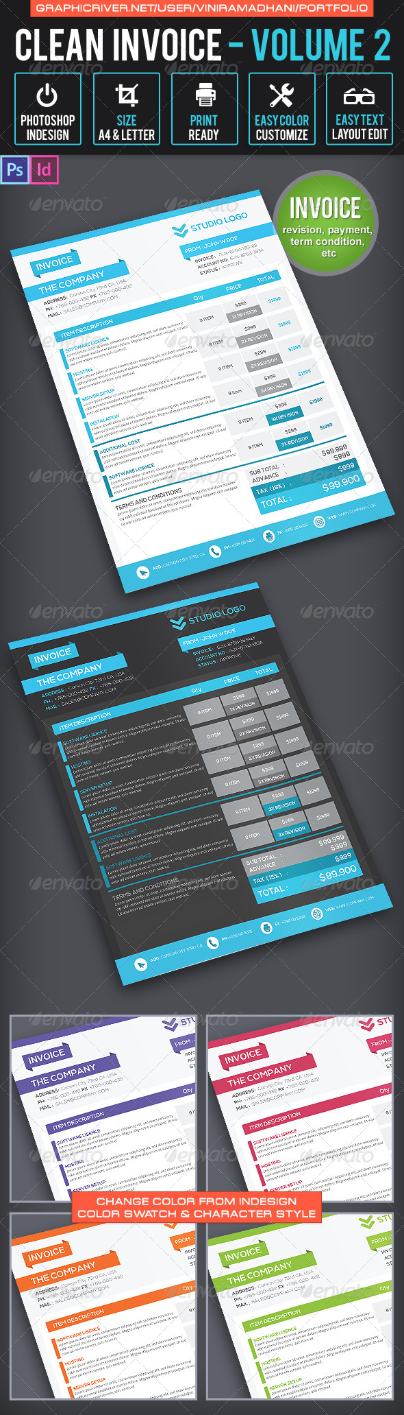 GraphicRiver Invoice Template Volume 2 6519246