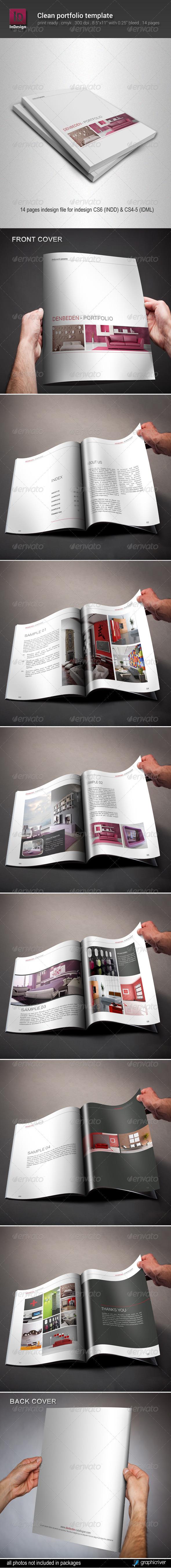 GraphicRiver Clean Portfolio Template 6542595