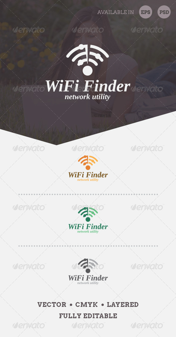GraphicRiver WiFi Finder Logo Template 6542808