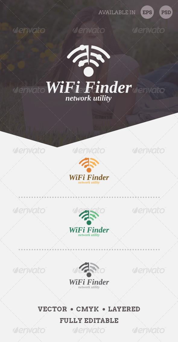 GraphicRiver WiFi Finder Logo Template 6542808