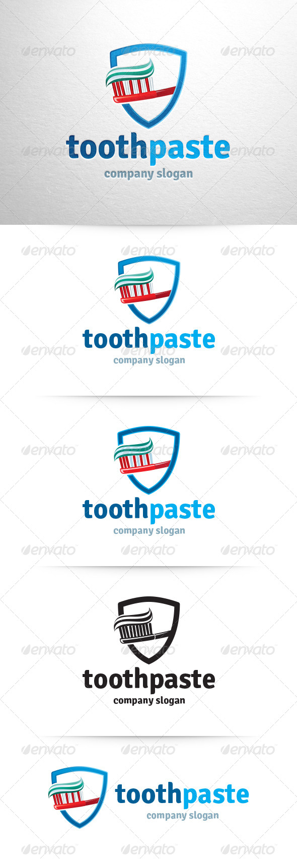 GraphicRiver Toothpaste Logo Template 6542810
