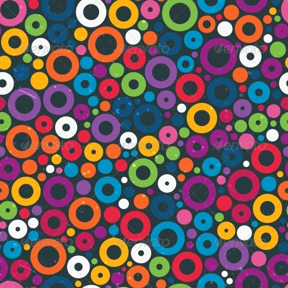 GraphicRiver Colorful Seamless Pattern with Circles 6542864