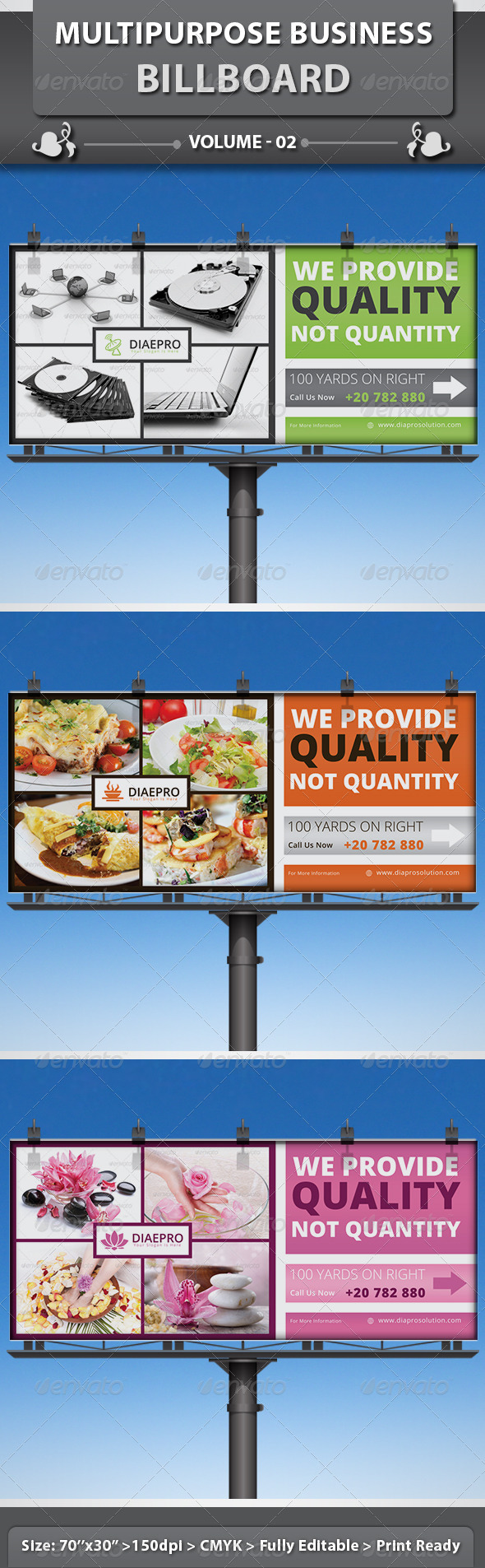 Multipurpose Business Billboard | Volume 2 - Signage Print Templates
