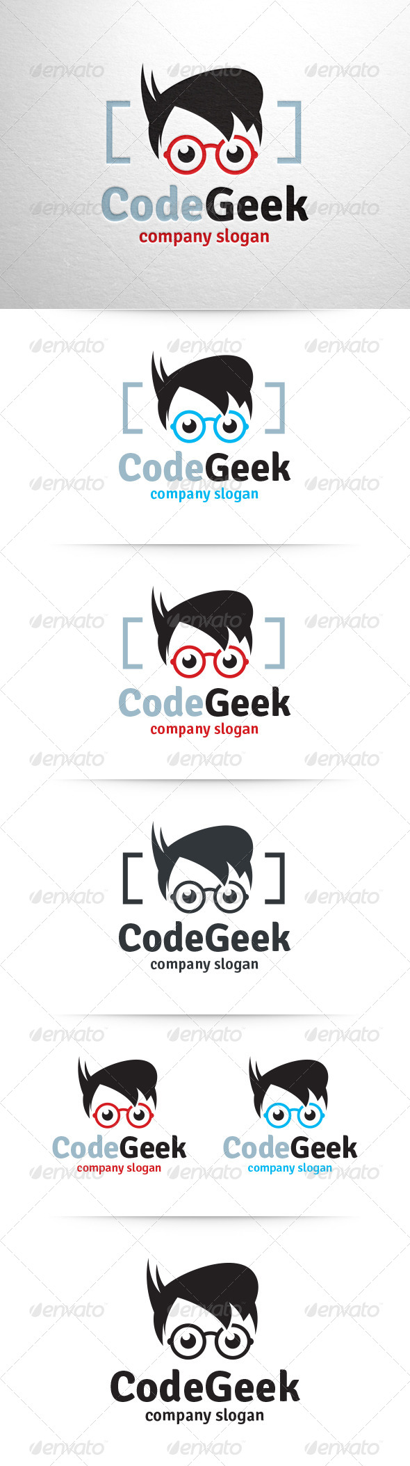 GraphicRiver Code Geek Logo Template 6542983