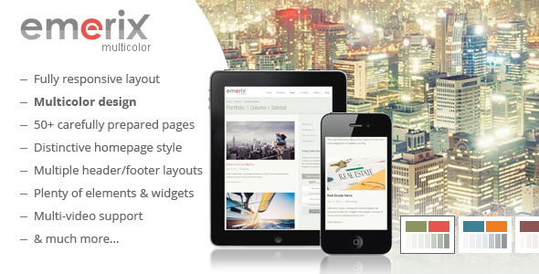 ThemeForest Emerix Responsive HTML5 Template 6543157