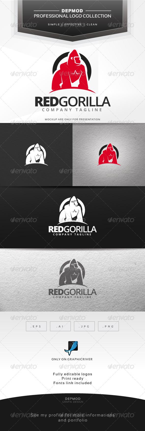 GraphicRiver Red Gorilla Logo 6543163