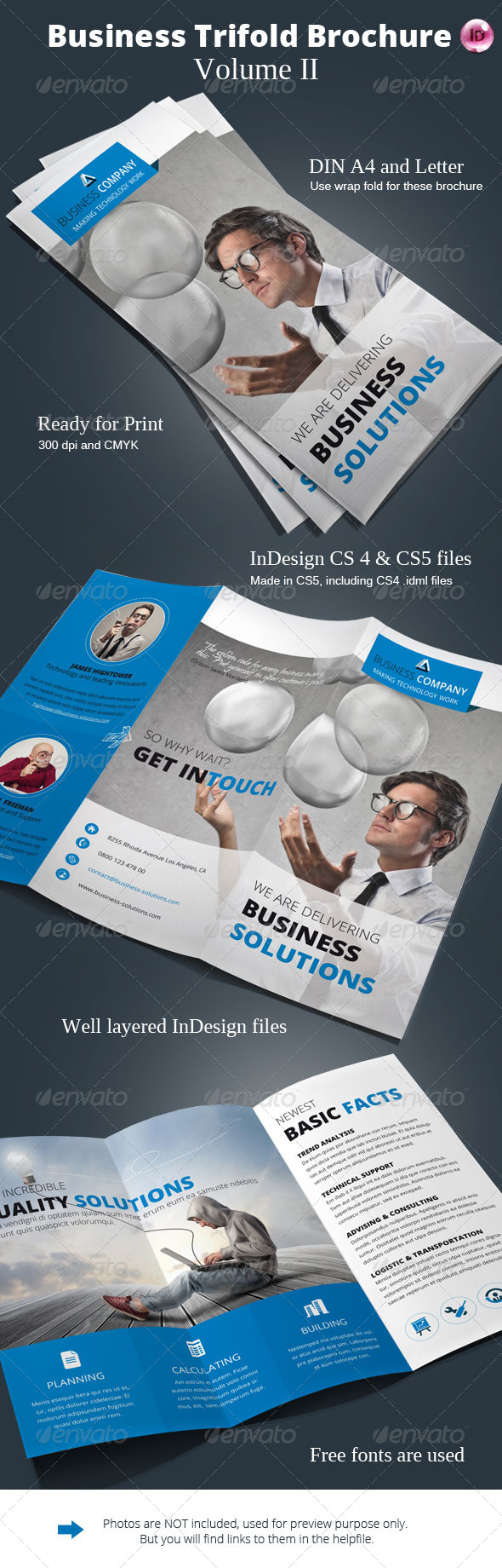 GraphicRiver Business Trifold Brochure Vol II 6543189