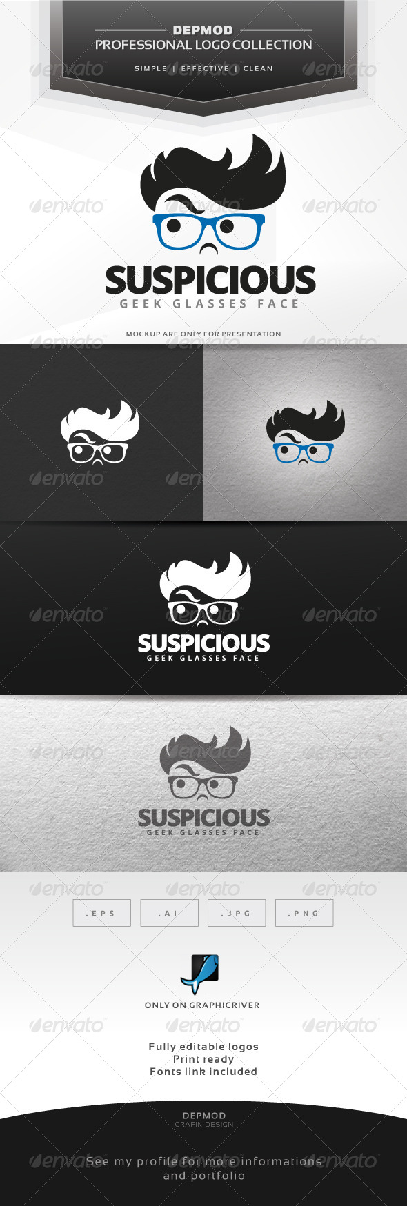 Suspicious Geek Logo - Humans Logo Templates