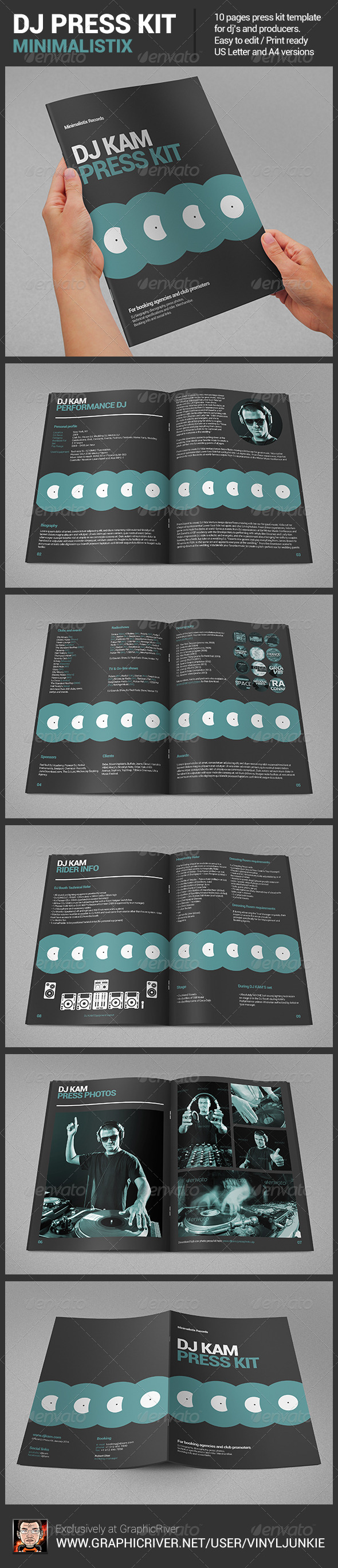 Minimalistix - DJ Press Kit - Portfolio Brochures