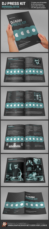 GraphicRiver Minimalistix DJ Press Kit 6543200