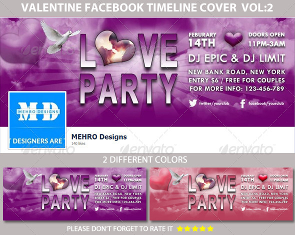 GraphicRiver Love Party Facebook Timeline Cover 6543403