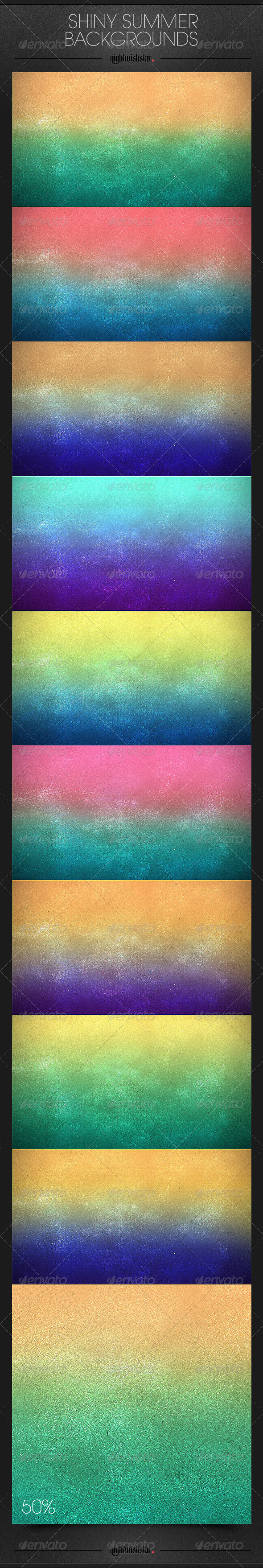 GraphicRiver Shiny Summer Backgrounds 6543444