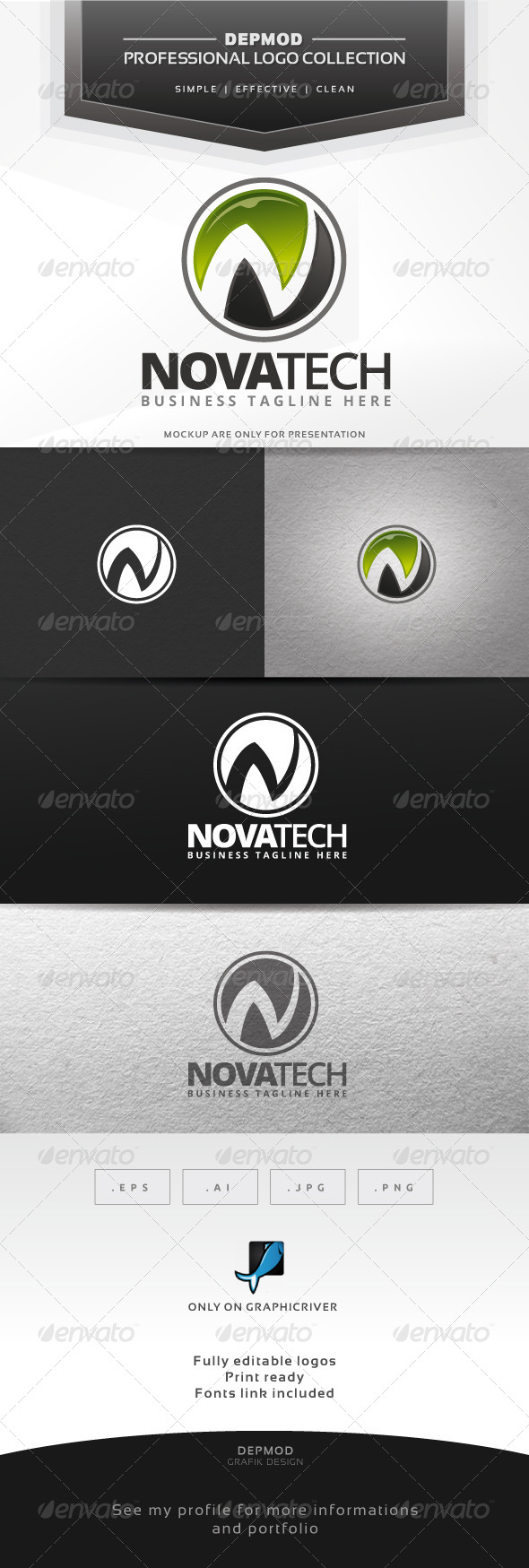 GraphicRiver Nova Tech Logo 6543492