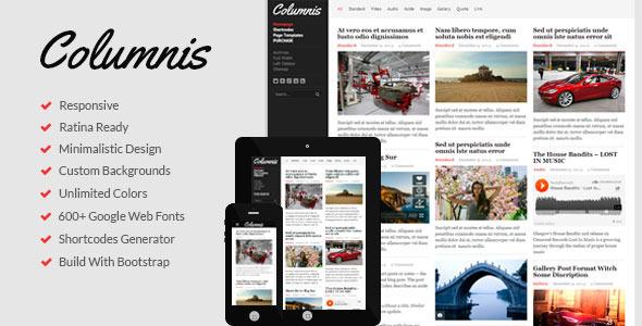 01 preview.  large preview Columnis   Premium WordPress Blog / Magazine Theme (Blog / Magazine)