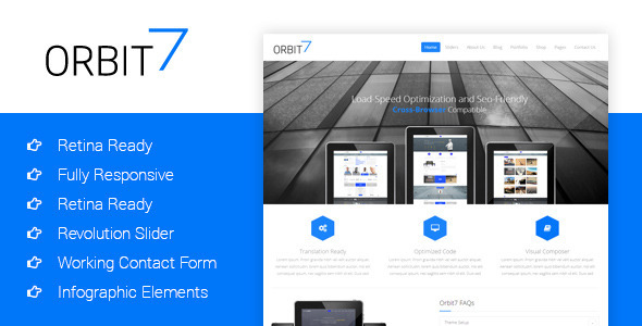 Orbit7 - Creative Multipurpose HTML5 Template - Business Corporate