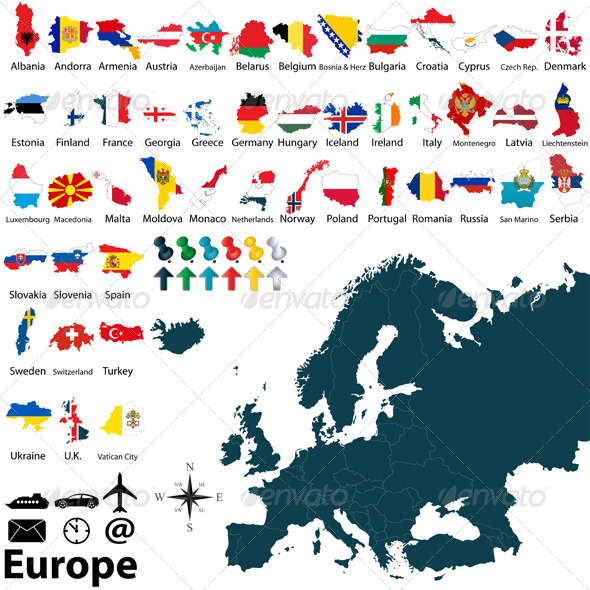 GraphicRiver Political Maps of Europe 6544015