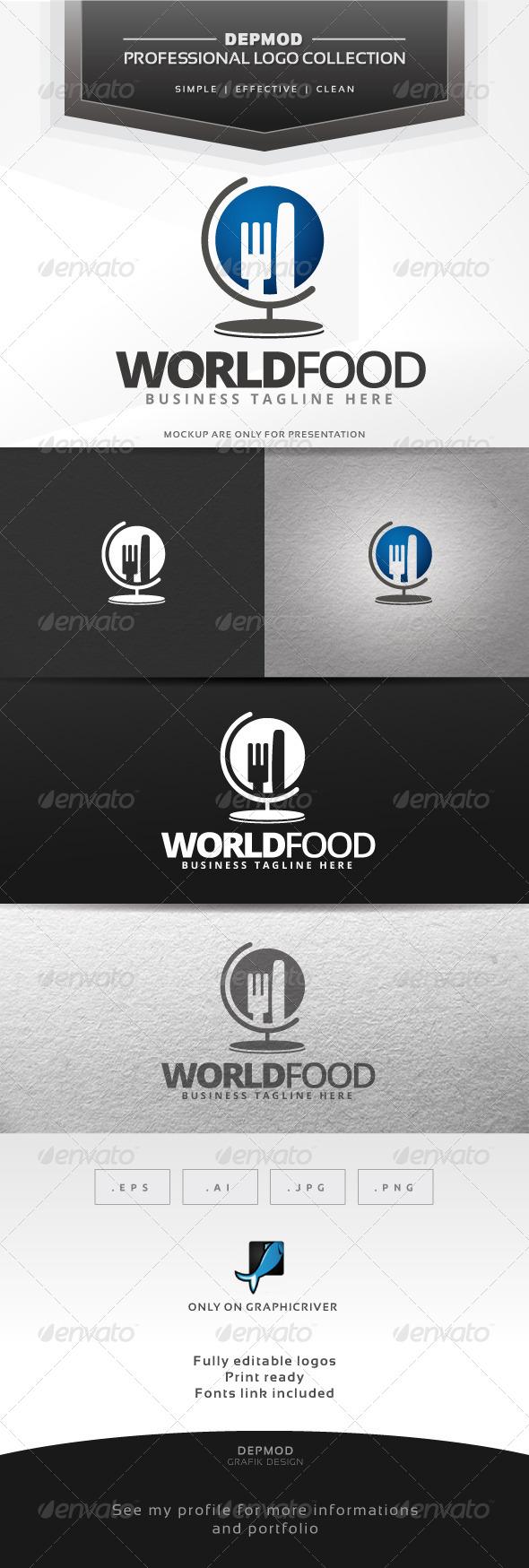 GraphicRiver World Food Logo 6544034