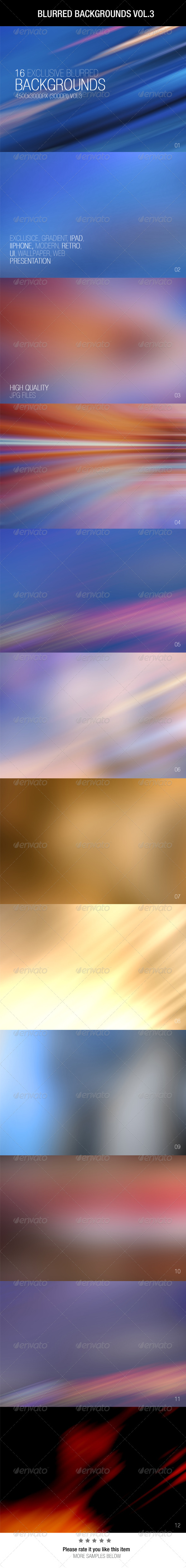 GraphicRiver Blurred Backgrounds Vol.3 6544495