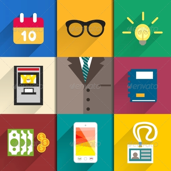 GraphicRiver Icons Set of Office Accessories 6544503