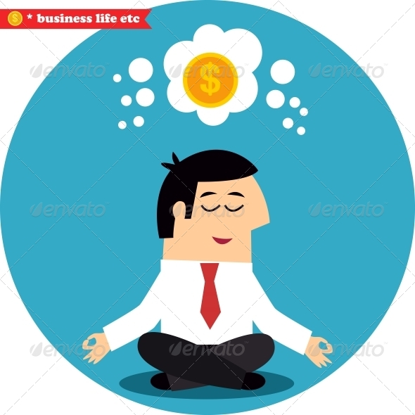 GraphicRiver Manager Meditating on Money and Success 6544504