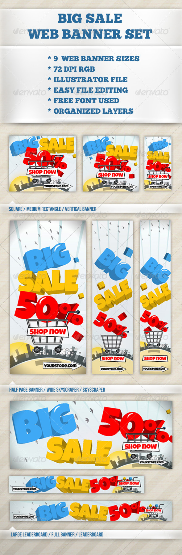 GraphicRiver Big Sale Web Banner 6544511