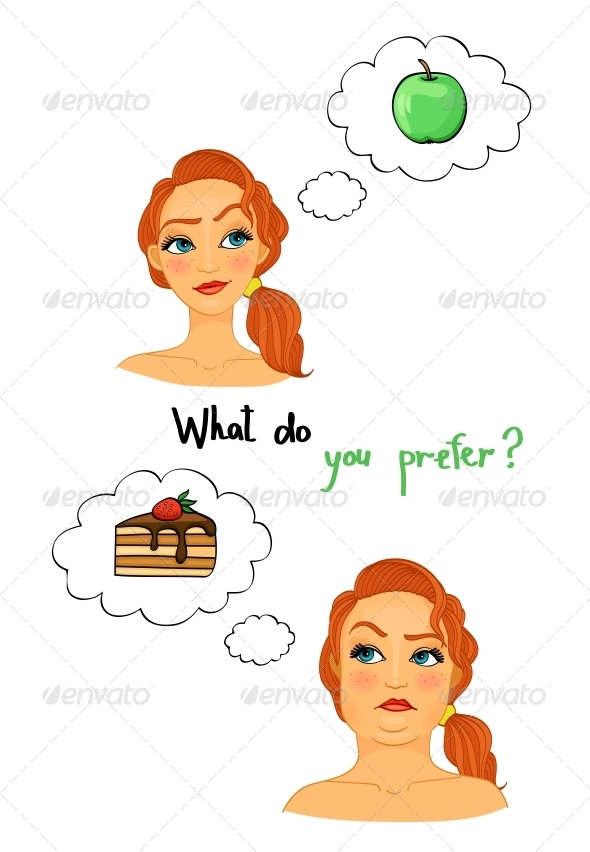 GraphicRiver Fat and Slim Woman Faces 6544517