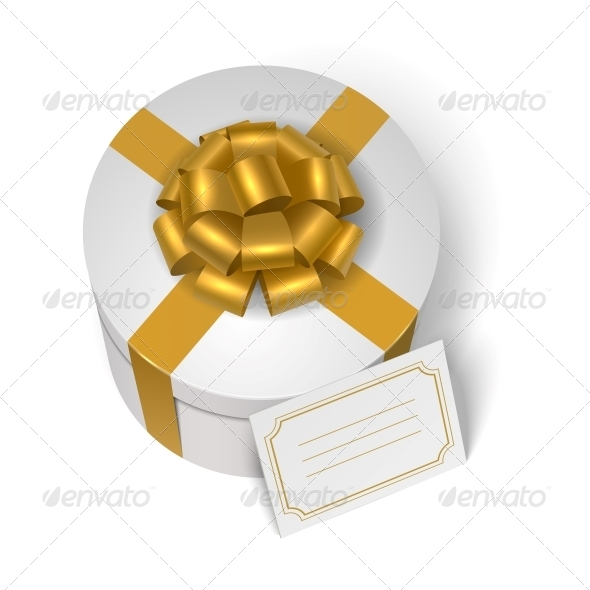 GraphicRiver Wedding Present Box with Yellow Ribbon 6544557