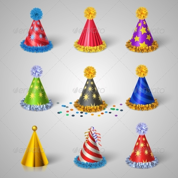 GraphicRiver Party Hat Set 6544563