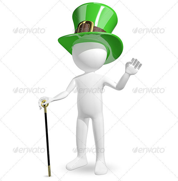 GraphicRiver Man in Hat St Patrick s 6544566