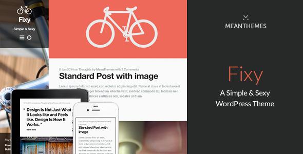 ThemeForest Fixy A Simple & Sexy WordPress Theme 6544567
