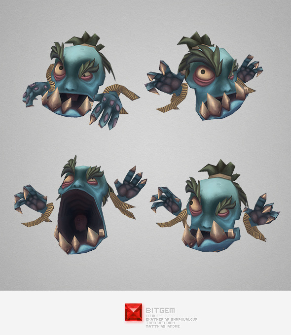 3DOcean Low Poly Micro Ghoul Gobrot 6544843