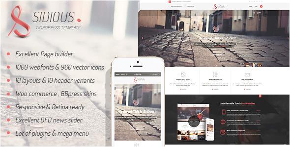 ThemeForest Sidious Multi-Purpose Web Creation Tool 6526949