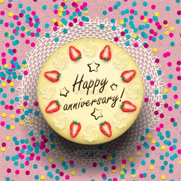 GraphicRiver Icecream Anniversary Cake 6545388