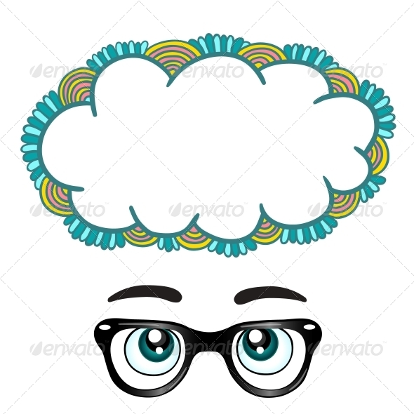 GraphicRiver Glasses with Eyes Dreaming Concept 6545415