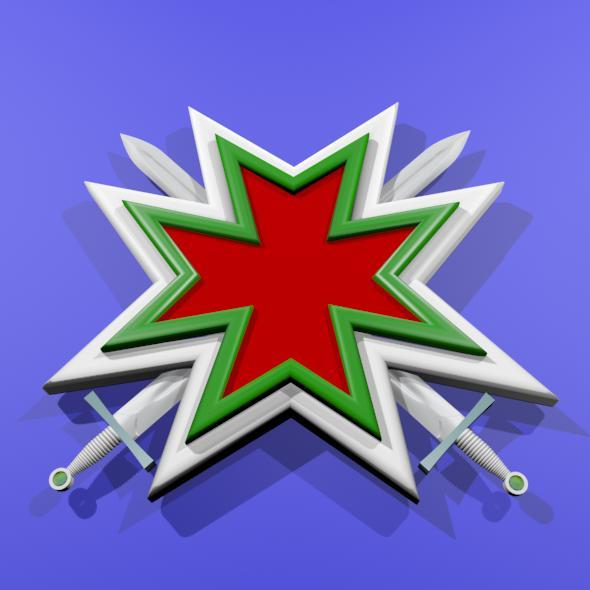 Maltese Cross With Two Crossed Swords