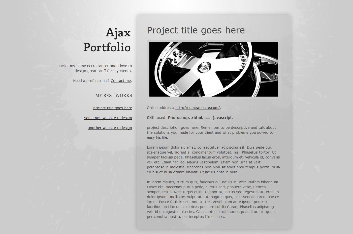 Ajax Portfolio