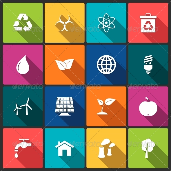 GraphicRiver Ecology Icons Set 6545541