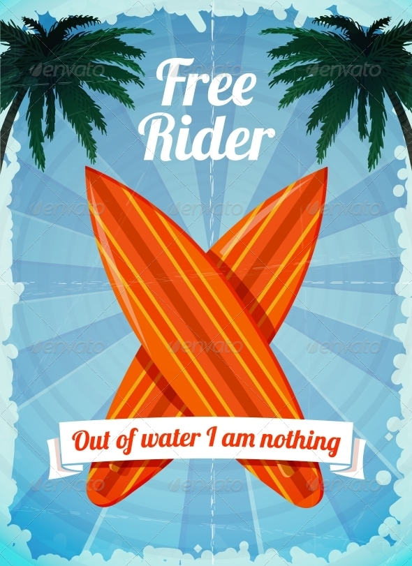 GraphicRiver Free Rider Surfboards Poster 6545565