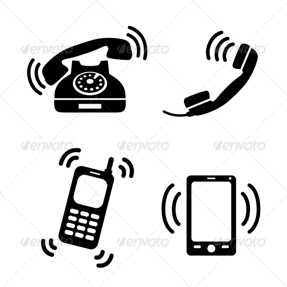 GraphicRiver Collection of Ringing Phones 6545587