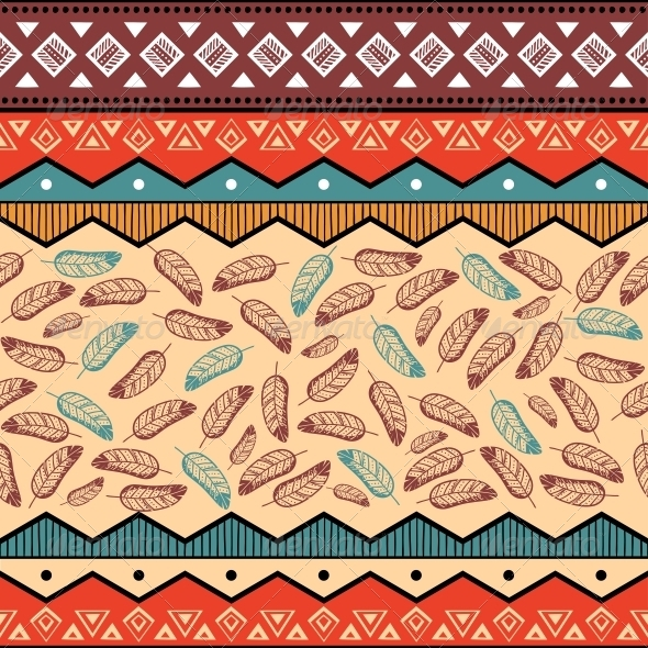 GraphicRiver Ethnic Tribal Pattern Background 6545628