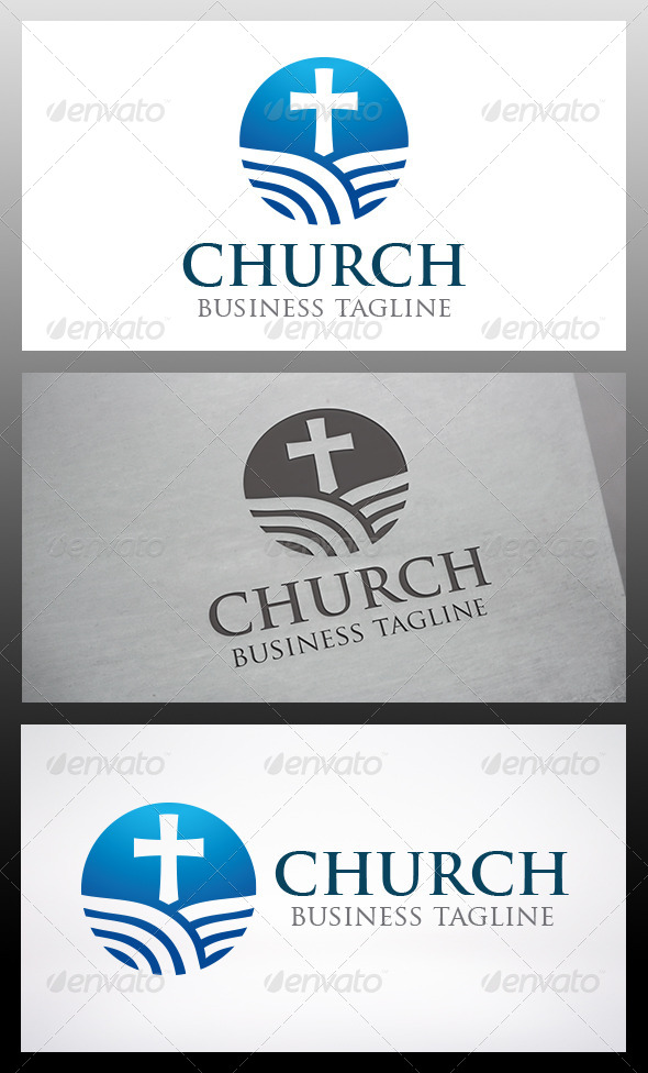 GraphicRiver Modern Church Logo 6545681