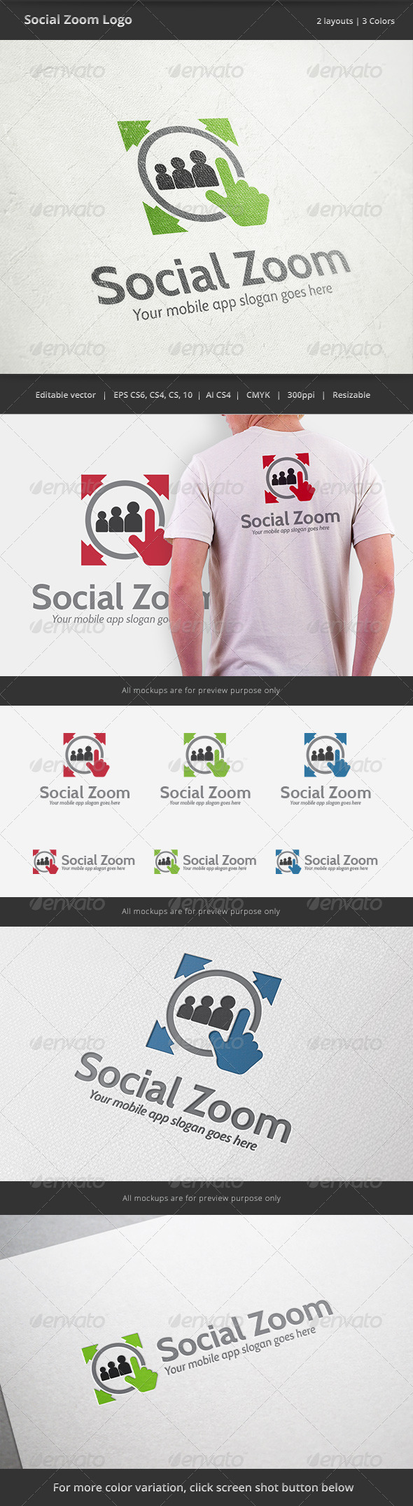 GraphicRiver Soical Zoom Mobile Logo 6545726