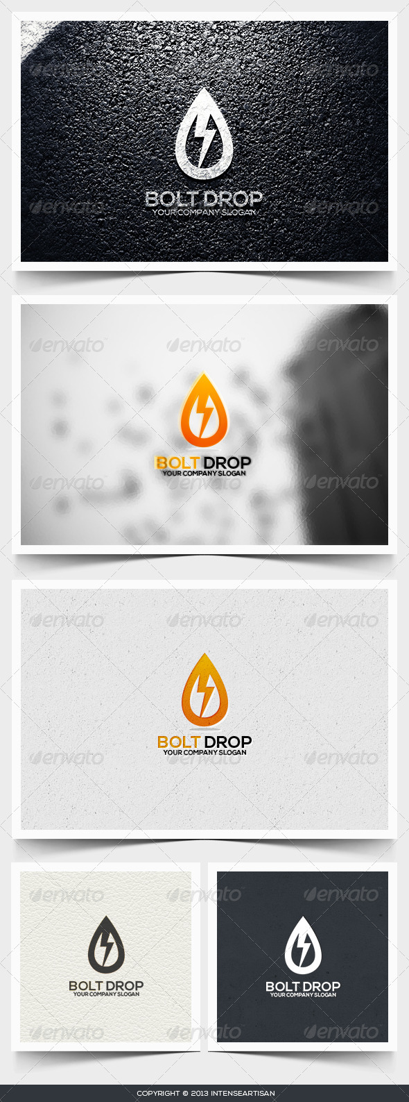 Bolt Drop Logo Template