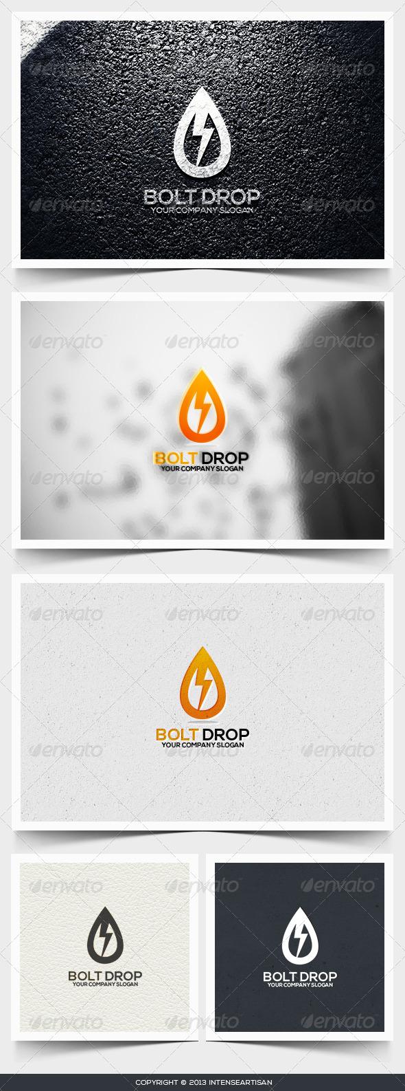 GraphicRiver Bolt Drop Logo Template 6545844