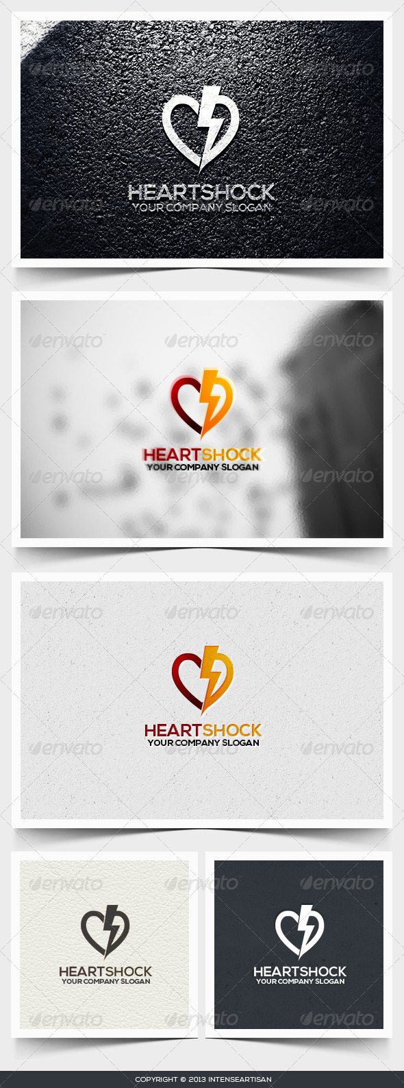 GraphicRiver Heart Shock Logo Template 6545882