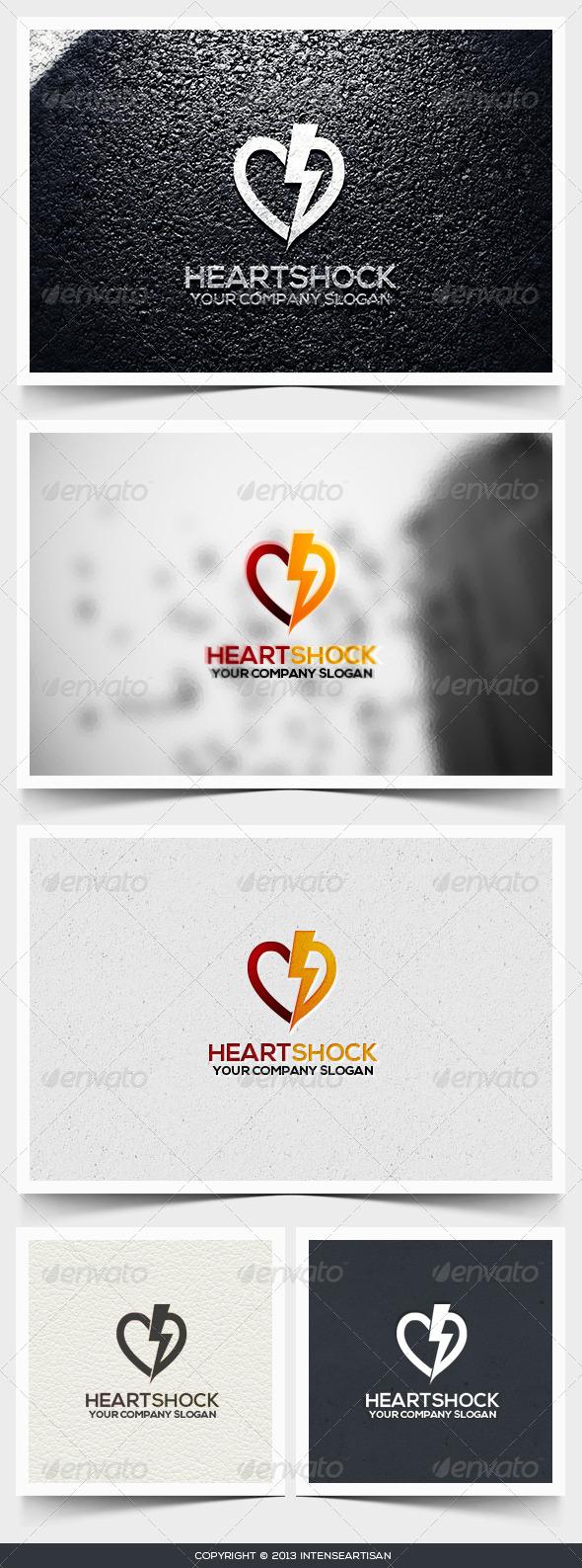 Heart Shock Logo Template - Objects Logo Templates
