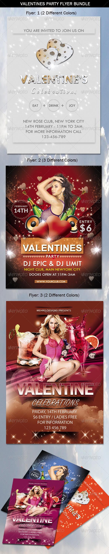 GraphicRiver Valentine Party Flyers Bundle 6545886