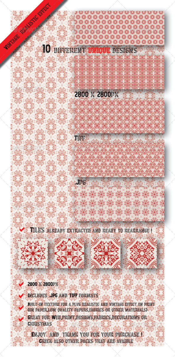 GraphicRiver 10 Unique Decorative Gift Wrapping Paper Patterns 6545887