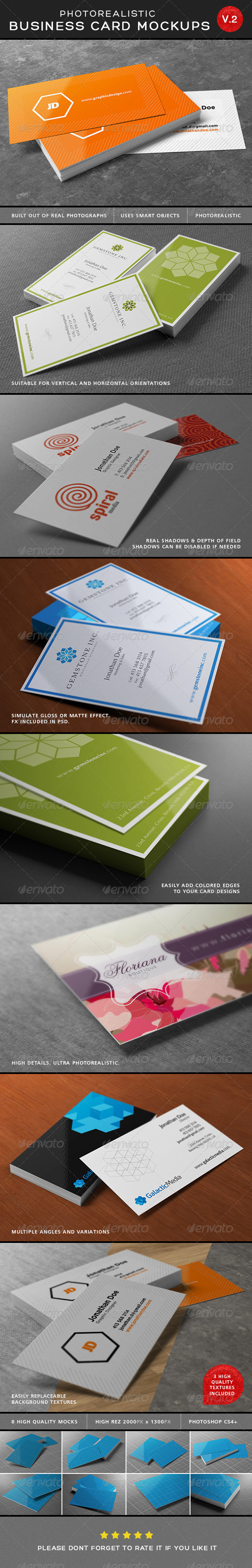 GraphicRiver Ultimate Photorealistic Business Card Mockups V2 6545912