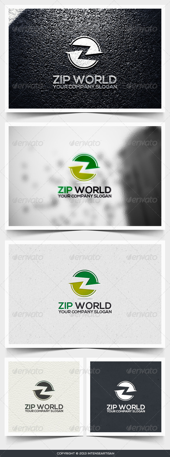Zip World Logo Template - Letters Logo Templates